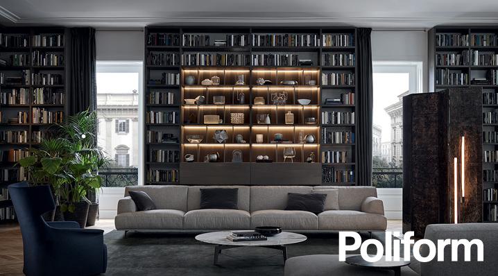 Librerie su misura poliform lema e lago for Libreria lema